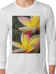 Yellow plumeria #3, Big Island, Hawai'i Long Sleeve T-Shirt