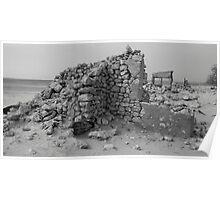 Mulka Ruins - Birdsville Track - South Australia Poster