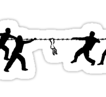 Super mega ultra hyper extreme tug of war with ultra high super exotic barbed wire Sticker