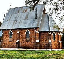 Old Church at Forrest Reefs  Nikon D40  HDR by geoffgrattan