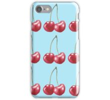 Blue Watercolor Cherries iPhone Case/Skin