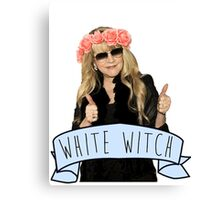 Stevie Nicks is The White Witch Canvas Print