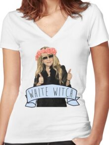 Stevie Nicks is The White Witch Women's Fitted V-Neck T-Shirt