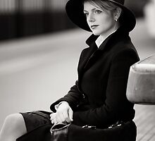 a girl in eindhoven bw2 by Ryan Young