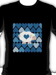 Blue hearts and sheep T-Shirt