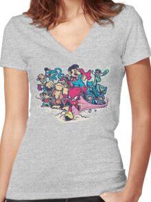 Super Smash League Women's Fitted V-Neck T-Shirt