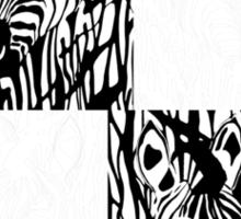 Zebra Project No.6 - separated zebras Sticker