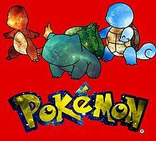 Pokemon Galaxy Kanto Starters by BlueBeast
