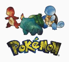 Pokemon Galaxy Kanto Starters Kids Clothes