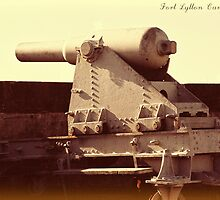 Old gun emplacement at Fort Lytton by ephedream