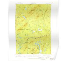 Maine USGS Historical Map Pierce Pond 460748 1925 62500 Poster