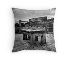 A Seat for Rosalie-B&W version Throw Pillow