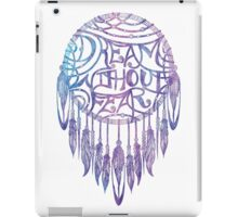 Dream Without Fear Watercolor Dreamcatcher iPad Case/Skin