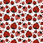 Ladybugs and Red Flowers by purplesensation