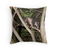 noisy visitor Throw Pillow