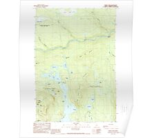 Maine USGS Historical Map Pierce Pond 460750 1989 24000 Poster