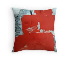 squared red Throw Pillow