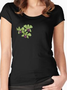 Orchids T-Shirt Women's Fitted Scoop T-Shirt