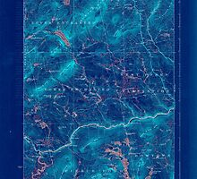 Maine USGS Historical Map Pierce Pond 807621 1927 62500 Inversion by wetdryvac