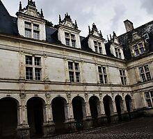 Villandry Castle Courtyard - Loire Valley - France by Alison Cornford-Matheson