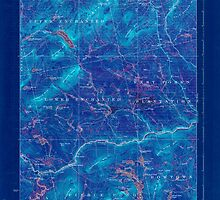 Maine USGS Historical Map Pierce Pond 807622 1927 62500 Inversion by wetdryvac