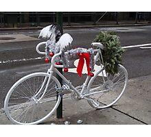 Holiday Ghost Bike Photographic Print