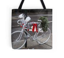 Holiday Ghost Bike Tote Bag