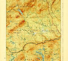 Maine USGS Historical Map Pierce Pond 807622 1927 62500 by wetdryvac