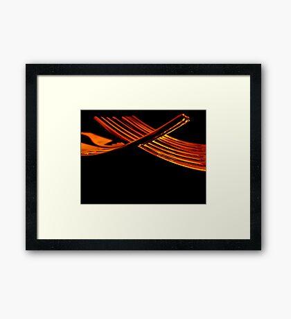 Fork Prongs Framed Print