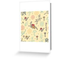 Elegance Seamless pattern with flowers Greeting Card