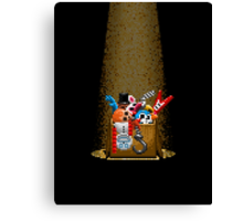 Five Nights at Freddy's 3 - Pixel art - What can we use? - Box of animatronics Canvas Print