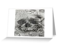 EGYPTIAN SKULL LIONS Greeting Card