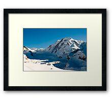 Lyskamm in winter Framed Print