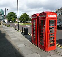 British telephone boxes of yesteryear. by Onions