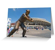 George Brett statue, Kauffman Stadium Greeting Card