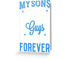 Favorite Sons Blue T-shirt Greeting Card