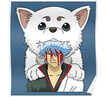 Gintoki and Sadaharu Tshirt Poster