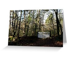 the Little White Gate Greeting Card