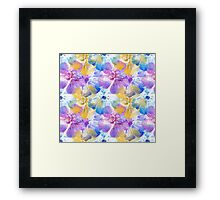 Water Color Hibiscus Dreaming Design Framed Print