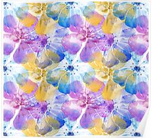 Water Color Hibiscus Dreaming Design Poster