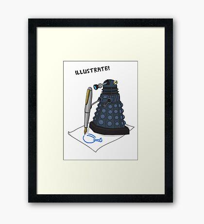 Dalek Hobbies | Dr Who Framed Print