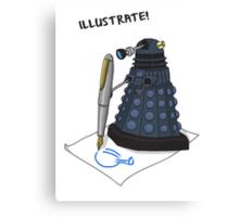 Dalek Hobbies | Dr Who Canvas Print