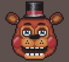Five Nights at Freddy's 2 - Pixel art - Blue eyes Toy Freddy One Piece - Short Sleeve