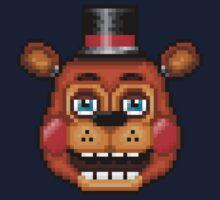 Five Nights at Freddy's 2 - Pixel art - Blue eyes Toy Freddy One Piece - Long Sleeve