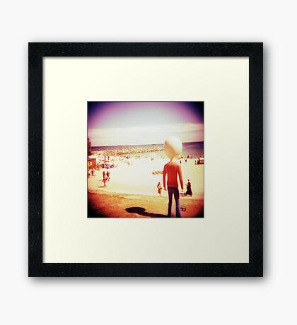 Beach Man Framed Print