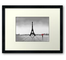 Paris (Vectorillustration) Framed Print