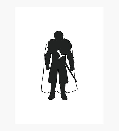 Robb Stark - Game of Thrones Silhouette  Photographic Print