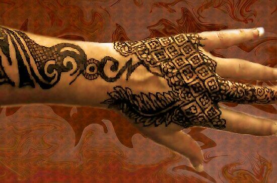 Henna tattoo geo by bajidoo by bajidoo redbubble for Red henna tattoo