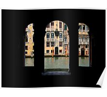 Window to the Canal Grande Poster