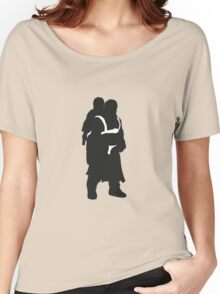 Hodor and Brann - Game of Thrones Silhouette Women's Relaxed Fit T-Shirt